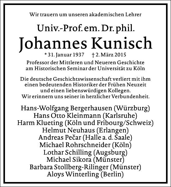Johannes Kunisch