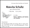 Roswita Schultz geb. Johansson-Roth