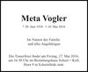 Meta Vogler