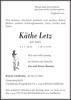 Käthe Letz