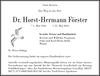Dr. Horst-Hermann Förster
