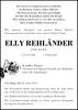 Elly Rehländer geb. Duwe