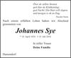 Johannes Sye