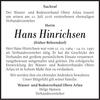 Hans Hinrichsen