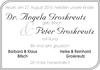 Dr. Angela Groskreutz Peter Groskreutz