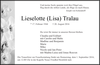 Lieselotte Lisa Tralau