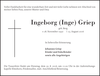 Ingeborg Inge Griep