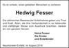 Hedwig Fesser
