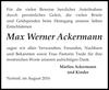 Max Werner Ackermann