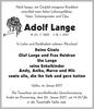 Adolf Lange