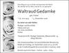 Waltraud Gedamke