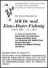 Mr Dr. Med.klaus-Dieter Flehmig