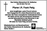 Anzeige für Frank Petig