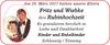 Fritz und Wiebke Rubinhochzeit