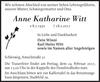 Anne Katharine Witt