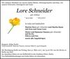 Lore Schneider