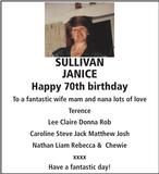 Birthday notice for SULLIVAN JANICE