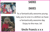 Birthday notice for SHEREE DAVIES