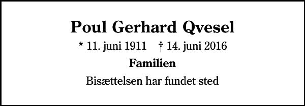 Poul Gerhard Qvesel