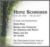 HEINZ SCHREIBER