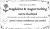 Magdalene August Kelting